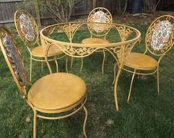 Nice Vintage Metal Patio Furniture | Etsy