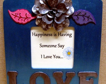 happiness is having someone say i love you love photo frame love frame gift for husband gift for wife gift for boyfriend gift for girlfriend