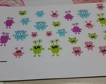 Girly Monster  Stickers