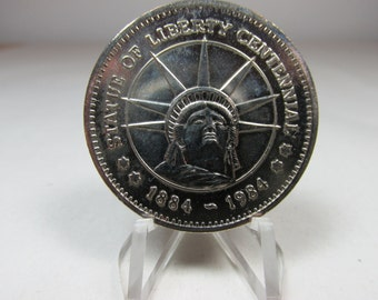 Statue Of Liberty Centennial Medal 1894 1984 100th Anniversary Nonmagnetic Vintage Token Vintage Medal Statue Of Liberty Souvenier