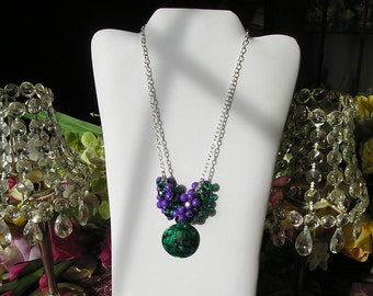 Emerald Green Shell Pendant