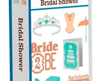 BRIDAL SHOWER Cricut Event Cartridge. Create 3D images ~Factory Sealed & Ready to Ship.  DISCONTINUED Cartridge - Order Now!