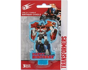 One Transformers Optimus Prime Birthday Candle