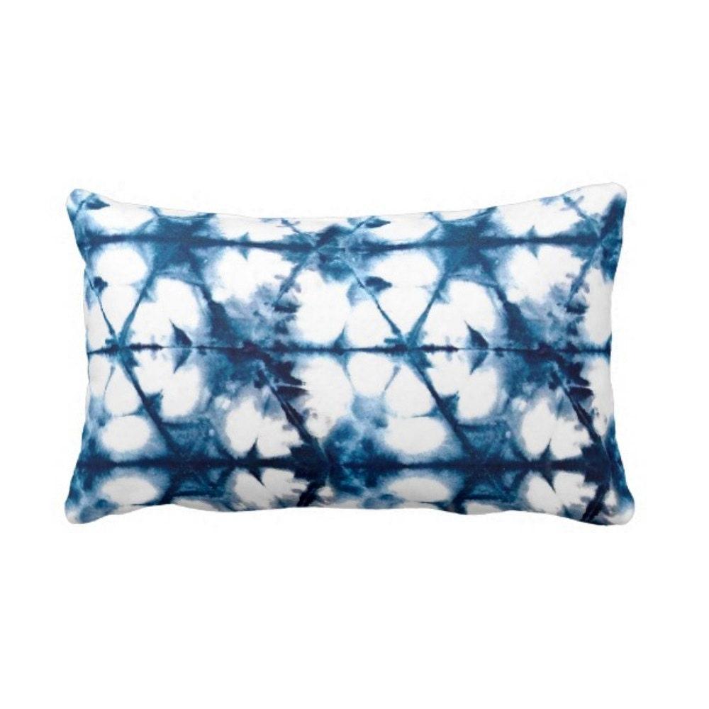 Shibori Throw Pillow Japanese Indigo Blue & by PatternBehavior