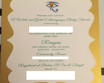 Egyptian Themed Invitation