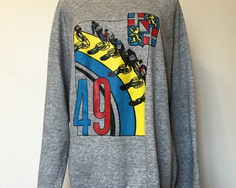 Vtg Track Cycling Sweatshirt