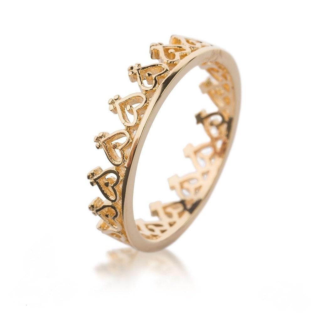 crown ring princess ring crown stacking rings layering