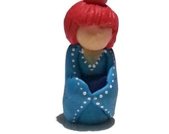 Japanese Polymer Clay Mini Figurine/ Doll