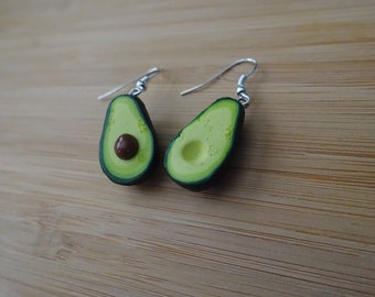 Avocado Polymer Clay Earrings