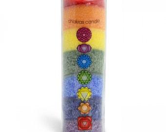 Chakra Rainbow Candle