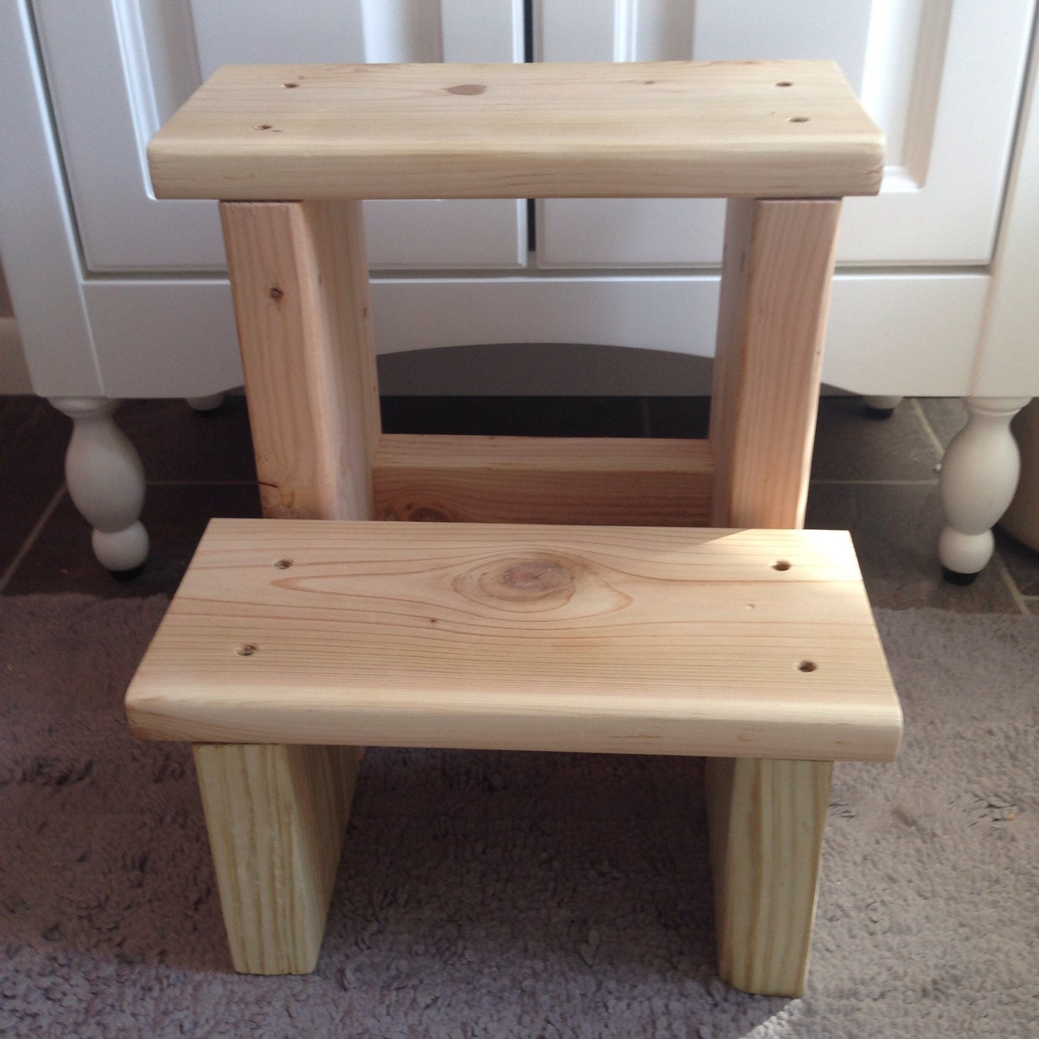 Wood step stool tall by etfinspirations on etsy