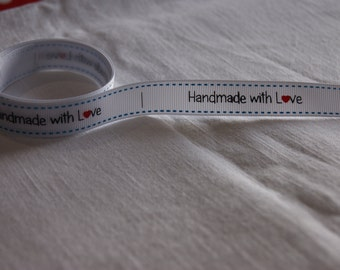 Handmade with Love labels on a ribbon!