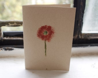 Simple Rust Flower Blank Card
