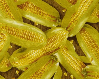 Farmer's Market - Corn on the Cob Fabric Fat Quarters