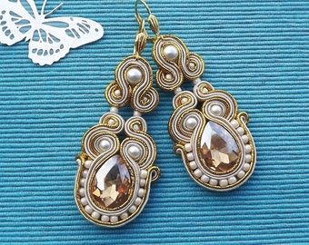 Gold soutache  earrings