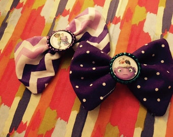 Dreamworks Home Purple Hair Bows w/ bottle cap centers Oh Tip