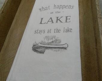 Flour Sack Tea Towels- What happens at the Lake