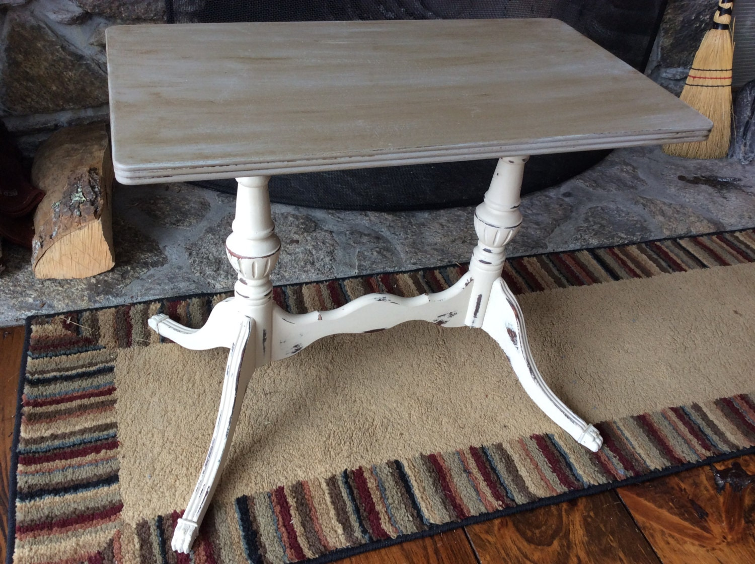 Vintage Side Table Duncan Phyfe Victorian Painted With