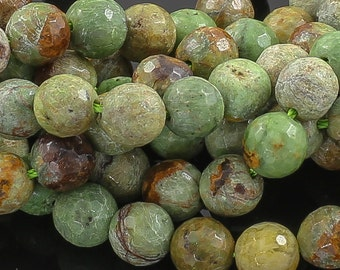 Green Opal Faceted Round 8-12mm