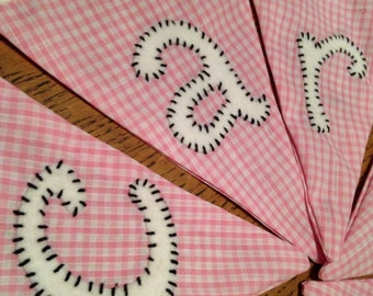Wedding bunting for cards