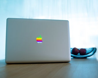 Stickers Macbook 11-13-15-17 inches - Rainbow Logo Apple
