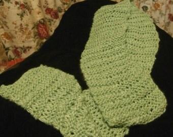 Sage Green Drop Stitch Scarf