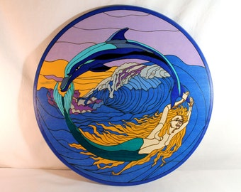 Lazy Susan - Mermaid and Dolphin
