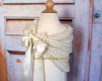 Flower Girl Shawl Shrug Bolero Shoulder Wrap First Communion Shawl Jr Bridesmaid Shoulder Cover Available In 17 Colors
