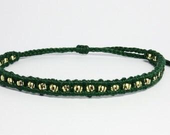 Loki Inspired Friendship Bracelets-Beaded Macrame Bracelet