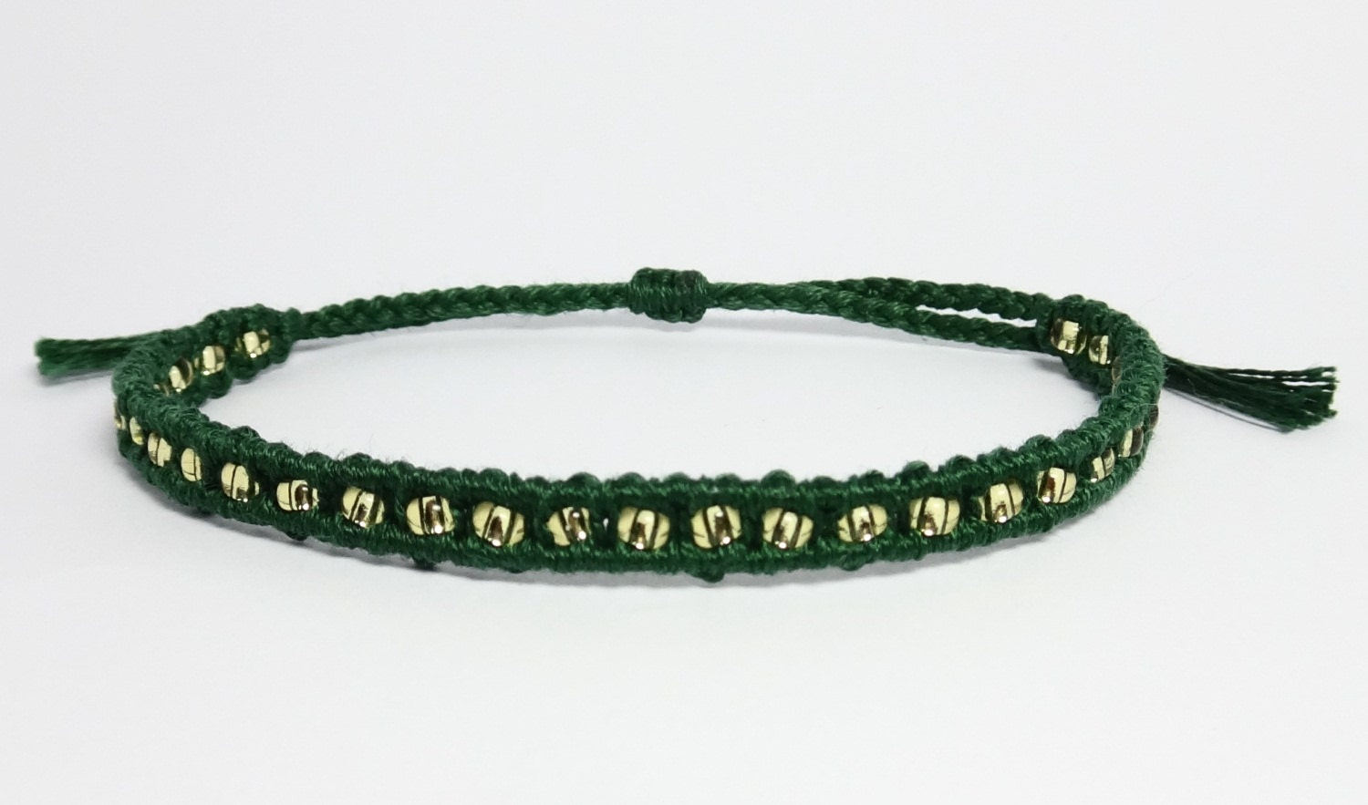 Loki Inspired Friendship Bracelets-Beaded Macrame Bracelet
