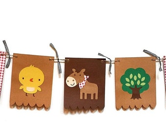 Farm Animal Banner - Barnyard Banner - Farm Theme Garland - Barnyard Theme Garland - Barnyard Party - Farm Animal Party
