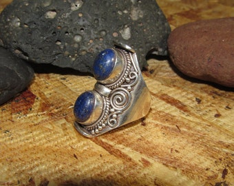 Handcrafted 925 stamped Sterling Silver Lapis Ring