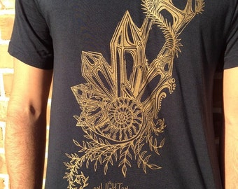 Crystal Ratio Bamboo And Organic Cotton Tee, Sustainable Sacred Geometry Clothing By Enlighten