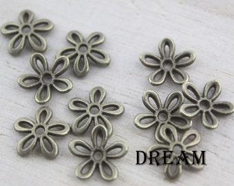 flower alloy lid, jewelry clasps, flower lid, jewelry findings PC131002