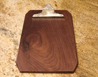 Black Walnut Clipboard - Available in multiple species