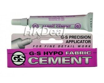 GS Hypo Fabric Cement Hobby Craft Jewelry Glue Rhienstone Glue Watch Crystal Glue + Free 24pcs Swarovski Crystal