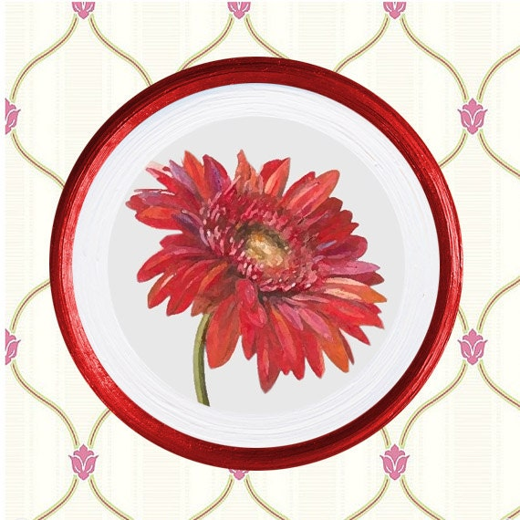 Kitchen Wall Decor In Red : Red wall decor kitchen color plates by