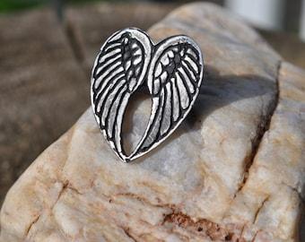 Pendant, heart, counterpart, Angel Wings, Angel
