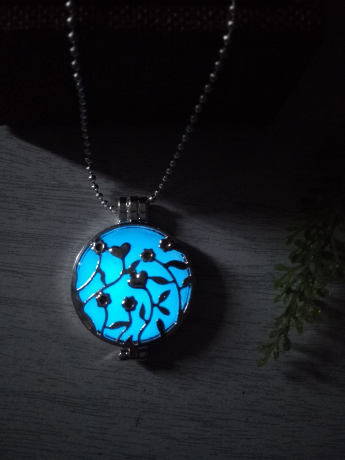 floral locket glow in the necklace glow necklace