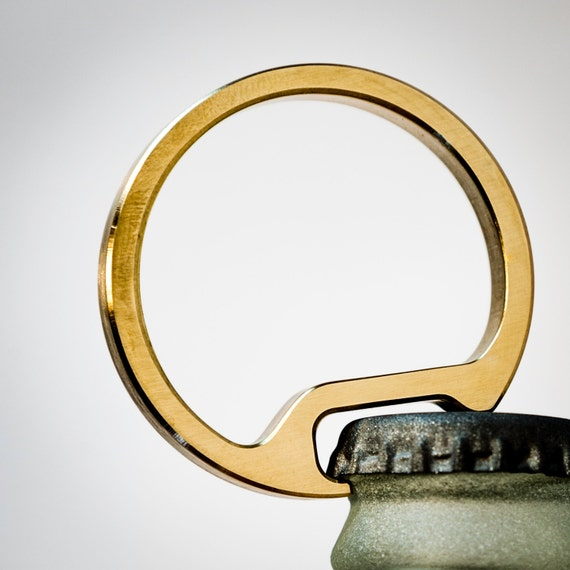bottle opener keychain men 39 s gift for guys machined from. Black Bedroom Furniture Sets. Home Design Ideas