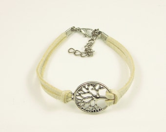 Particular tree handmade leather cord bracelet,vintage,bangle,personalized(P05)