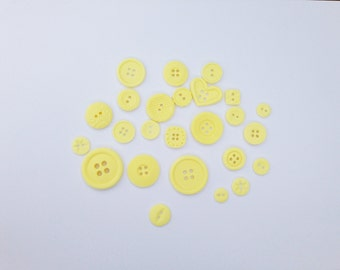 25 Edible Lemon Buttons for Christening or Birthday cake toppers