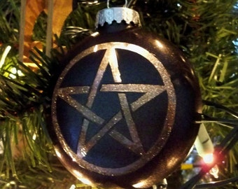 All I Want for Xmas is Yule - Pentacle Light Up Ornament - Glass