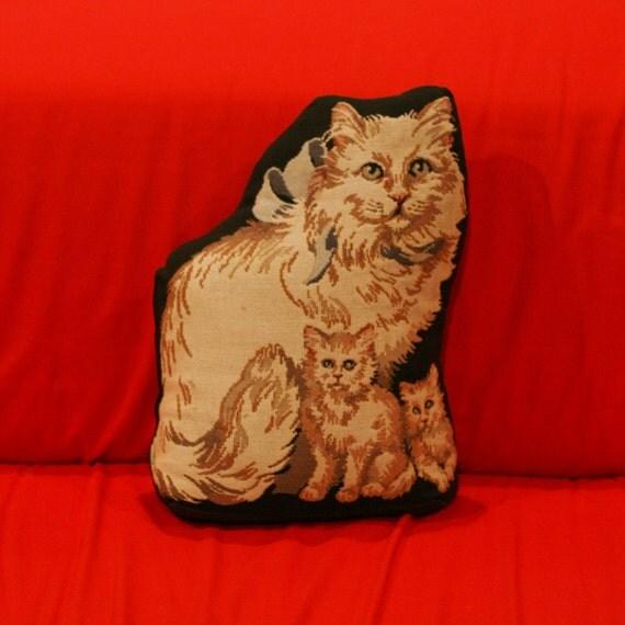 Sale vintage black cat door stop animal lovers tapestry - Cat door stoppers ...