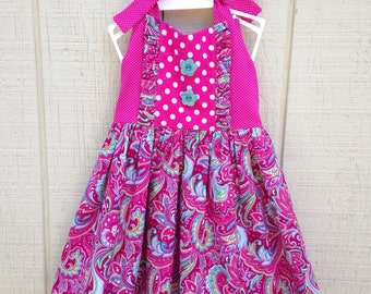 Pink Paisely Ginger Dress