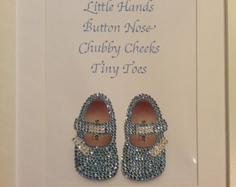 Swarovski & Diamante Little Hands, Button Nose, Chubby Cheeks, Tiny Toes