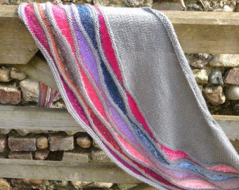 Hand knitted Spring Shawl