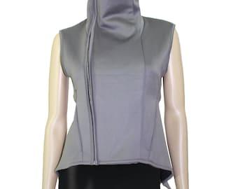 Rick Owens Vintage Gray Structured Vest Top