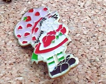 Ring Strawberry Shortcake Pin & Ring Vintage 1980s