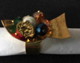 1 handmade brass ring